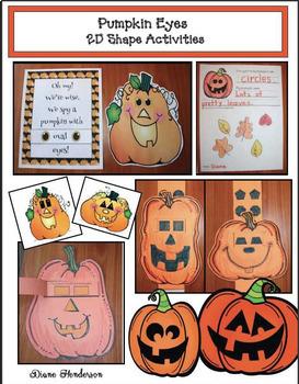 """""""Pumpkin Eyes!"""" 2D Shape Activities & Pumpkin Craft"""