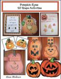 """Pumpkin/Halloween Activities: """"Pumpkin Eyes!"""" 2D Shape Fun & Pumpkin Craft"""