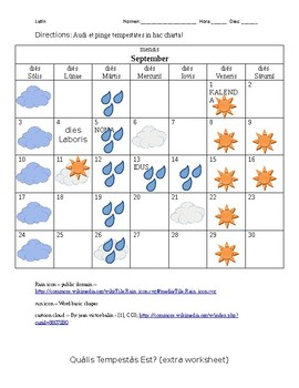 """Qualis Tempestas Est?"" Weather and Calendar Listening Exercise"