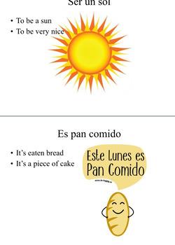 ¿Qué Dijiste? Spanish idioms project