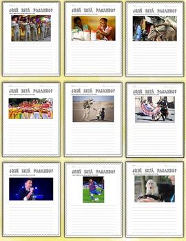 """¿Qué Está Pasando?"" – Spanish Creative Writing Journal/Worksheet Activities"