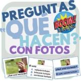 """""""¿Qué Hacen?"""" - Preguntas con Fotos - What Questions in Sp"""