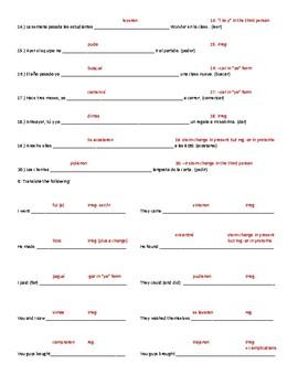 ¡Qué chévere! 2 5A- Preterite Quiz or Review: All Types of Preterite Verbs