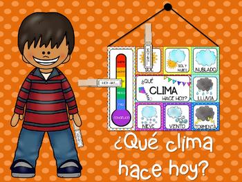 ¿Qué clima hace hoy? Poster