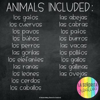 ¿Qué dicen los animales? - 20 Animal Sound Posters in Spanish