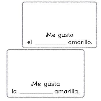 ¿Qué es amarillo? A beginning Spanish workbook/reader (articles, gender)