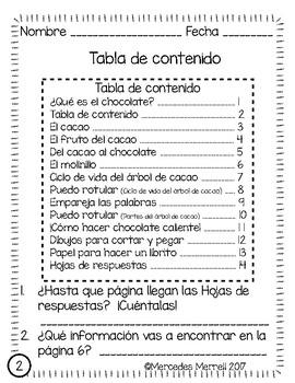 ¿Qué es el chocolate?  Lectura informativa