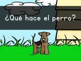 """""""¿Qué hace EL perro?"""" Pre-Primer Sight Word Video, Slideshow & PDF"""
