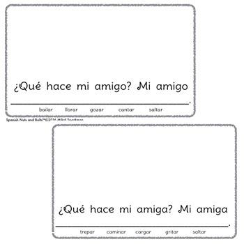 ¿Qué hace mi amigo?: A beginning Spanish verb workbook/reader (el/ella form)