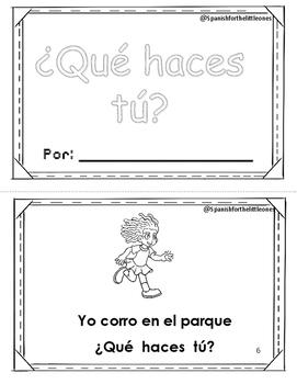 ¿Qué haces tú? Librito de Palabras frecuentes. HFW books Spanish