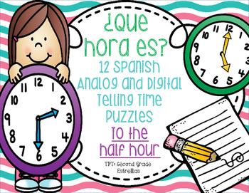 ¿Que hora es? - 12 Half Hour Puzzles