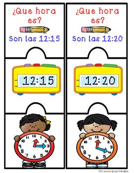 ¿Que hora es? - 5 minute intervals puzzles