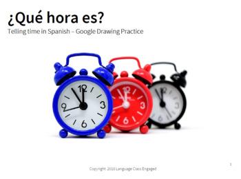 ¿Qué hora es? Google Drawing time sort