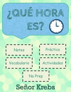 ¿Qué hora es?  / La hora / Telling time in Spanish PPT