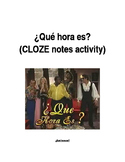 ¿Qué hora es? Mad TV skit (CLOZE notes listening activity)