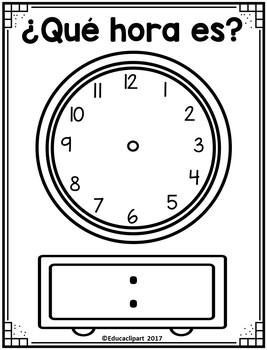 ¿Qué hora es? - Plantilla