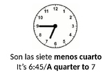 ¿Qué hora es? Power Point
