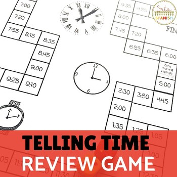 ¿Qué hora es?- Telling Time Review Game