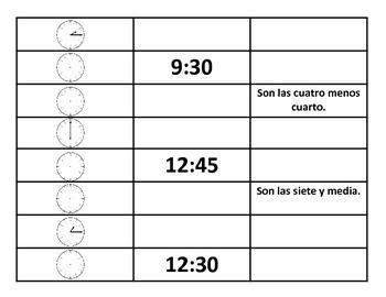¿Que hora es? Telling time in Spanish
