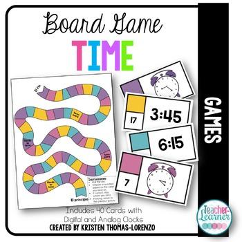 ¿Qué hora es? - Time Board Game