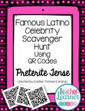 Famous Latino Celebrity Scavenger Hunt - A QR Code Activity