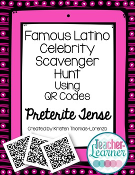 Famous Latino Celebrity Scavenger Hunt - A QR Code Activity