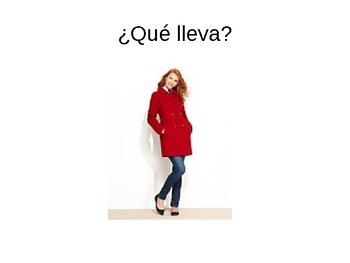 ¿ Qué lleva? - clothing and color practice