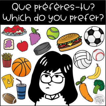 """Que préfères-tu?"" / ""Which do you prefer?"" Tabletop Learning Prompts FREEBIE"