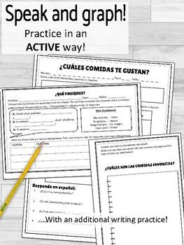 La Comida Activities Speaking and Writing