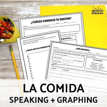 ¿Qué prefieres? Conversation Activity for Spanish foods