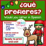 ¿Qué preferirías? -Would you rather in Spanish Christmas