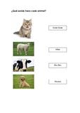¿Qué sonido hace cada animal?