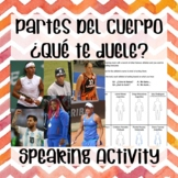 ¿Qué te duele? What hurts?  Body parts Spanish activity