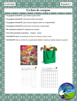 ¿Qué te gusta comer esta semana? - Un Proyecto - Weekly menu & grocery list