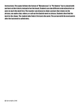 ¿Qué  te gusta hacer? Matamoscas- Spanish 1 Vocabulary Activity