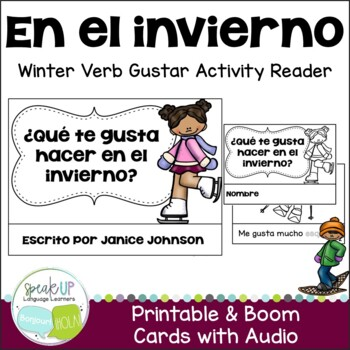 ¿Qué te gusta hacer en el invierno? Reader {en español} & Vocabulary Activities