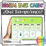 ¿Qué tiempo hace? Digital Task Cards | Weather | BOOM Card
