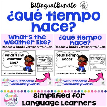 ¿Qué tiempo hace? ~ What's the Weather Like? Readers & Vocab {Bilingual + BOOM}