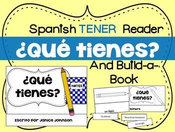 ¿Qué tienes? Spanish Verb Tener School Object Reader & Bui