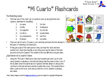 ¿Qué tienes en tu cuarto? (My Room Spanish Vocabulary Flashcards)