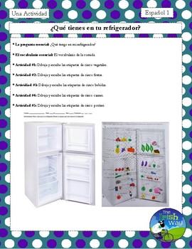 ¿Qué tienes en tu refrigerador? - Practice Activity for Food Vocabulary