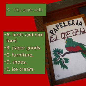 What do these stores sell? Basic vocabulary with pictures from Spanish world!