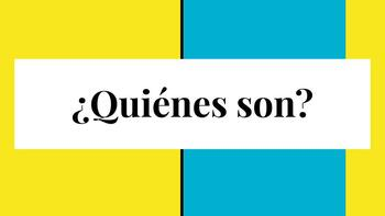 ¿Quiénes son?  with celebrities and TV characters