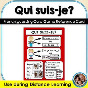 Qui suis-je? French Card Game Reference Sheet FREEBIE