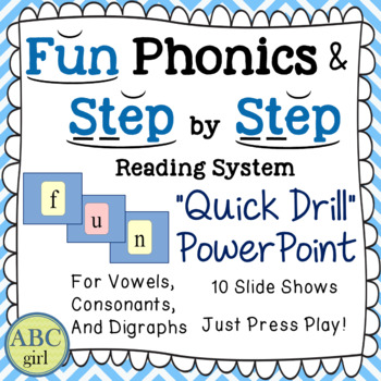 """Wilson Reading & Fundations """"Quick Drill"""" Letter Sound PowerPoint for SMARTboard"""