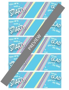 Smarty Candy Bookmark for Student Gifts