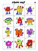 ¿Quién Soy? –Who am I? –Monster Match Game-El Cuerpo Vocabulary