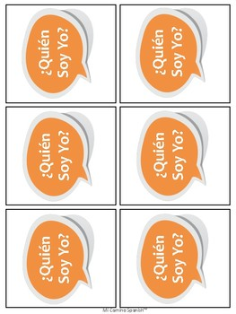 """¿Quién Soy Yo?"" Spanish Vocabulary Game! (Animals, Fruits & Vegetables)"