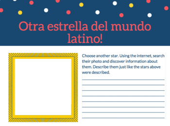 ¿Quién eres? Spanish Reading and Writing Descriptions Activity