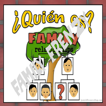 ¿Quién es?  Spanish Family Frenzy Game